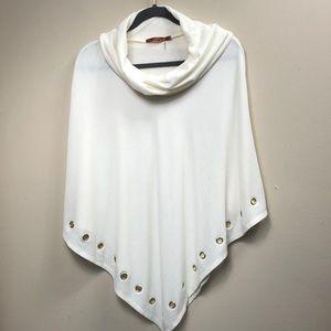Belldini Cream Knit Poncho